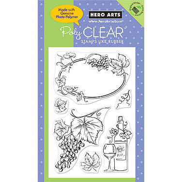 Hero Arts - Poly Clear - Clear Acrylic Stamps - Artistic Grapes