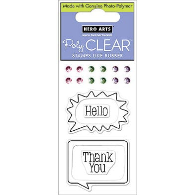 Hero Arts - Sparkle Clear - Clear Acrylic Stamps - Hello Bubble