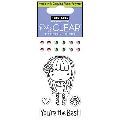 Hero Arts - Sparkle Clear - Clear Acrylic Stamps - You're the Best