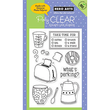 Hero Arts - Poly Clear - Clear Acrylic Stamps - What's Perking