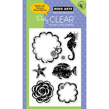 Hero Arts - Poly Clear - Clear Acrylic Stamps - Sea Life