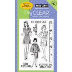 Hero Arts - Poly Clear - Clear Acrylic Stamps - Sew Stylish