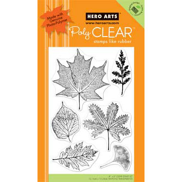 Hero Arts - Poly Clear - Clear Acrylic Stamps - Real Leaves