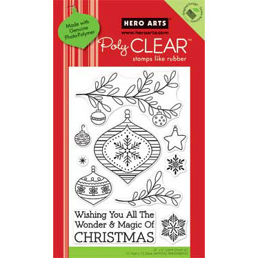 Hero Arts - Poly Clear - Christmas - Clear Acrylic Stamps - Magic of Christmas