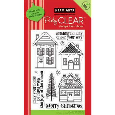 Hero Arts - Poly Clear - Christmas - Clear Acrylic Stamps - Sending Holiday Cheer