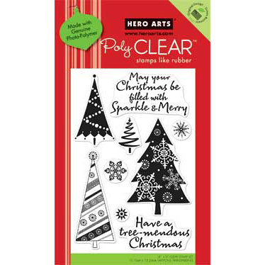 Hero Arts - Poly Clear - Christmas - Clear Acrylic Stamps - Tree-Mendous