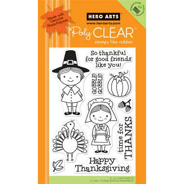 Hero Arts - Poly Clear - Clear Acrylic Stamps - So Thankful
