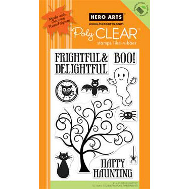Hero Arts - Poly Clear - Halloween - Clear Acrylic Stamps - Frightful