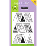 Hero Arts - Poly Clear - Clear Acrylic Stamps - Friendly Flags
