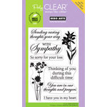 Hero Arts - Poly Clear - Clear Acrylic Stamps - With Sympathy