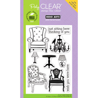 Hero Arts - Poly Clear - Clear Acrylic Stamps - Wish You Were Here