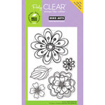 Hero Arts - Poly Clear - Clear Acrylic Stamps - Layered Flowers