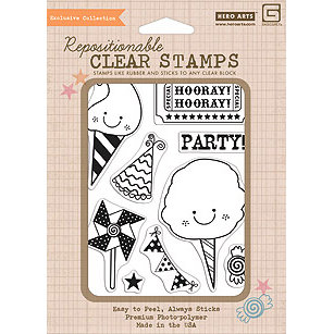 Hero Arts - BasicGrey - Life of the Party Collection - Poly Clear - Clear Acrylic Stamps - Birthday
