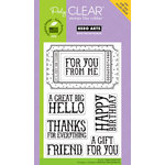 Hero Arts - Poly Clear - Clear Acrylic Stamps - Big Ticket