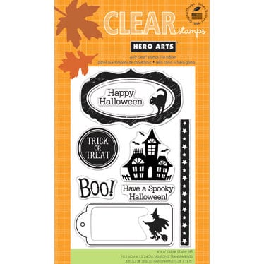 Hero Arts - Poly Clear - Halloween - Clear Acrylic Stamps - Spooky Halloween