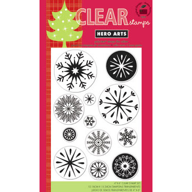 Hero Arts - Poly Clear - Christmas - Clear Acrylic Stamps - Snowflakes