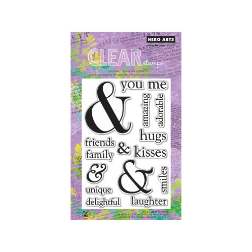 Hero Arts - Poly Clear - Clear Acrylic Stamps - You and Me