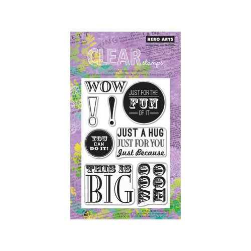 Hero Arts - Poly Clear - Clear Acrylic Stamps - This is Big