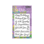 Hero Arts - Poly Clear - Clear Acrylic Stamps - Say it All