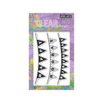 Hero Arts - Poly Clear - Clear Acrylic Stamps - Hooray