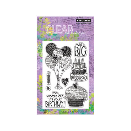 Hero Arts - Poly Clear - Clear Acrylic Stamps - Wish Big