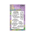 Hero Arts - Poly Clear - Clear Acrylic Stamps - Remember
