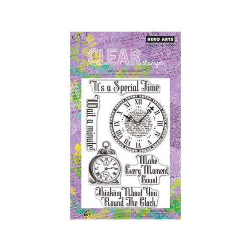 Hero Arts - Poly Clear - Clear Acrylic Stamps - Special Time