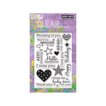 Hero Arts - Operation Write Home - Poly Clear - Clear Acrylic Stamps - Year Round Sentiments