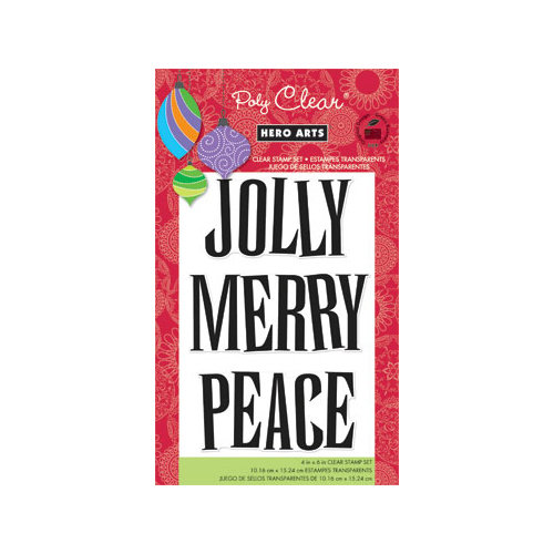Hero Arts - Poly Clear - Christmas - Clear Acrylic Stamps - Jolly