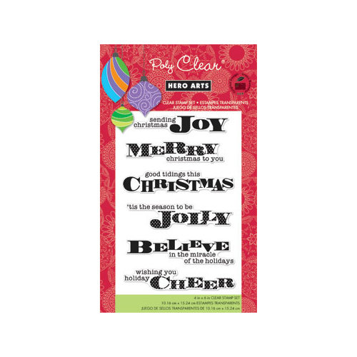 Hero Arts - Poly Clear - Christmas - Clear Acrylic Stamps - Miracle of the Holidays