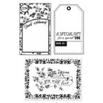 Hero Arts - BasicGrey - Lucille Collection - Poly Clear - Clear Acrylic Stamps - Fancy Schmancy