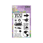 Hero Arts - Operation Write Home - Poly Clear - Clear Acrylic Stamps - Epic Love