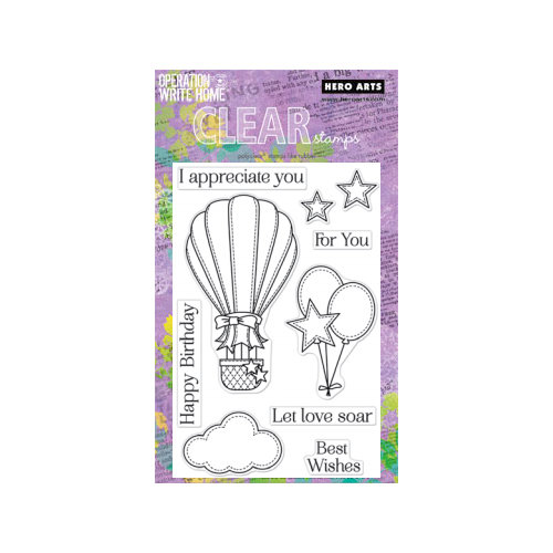 Hero Arts - Operation Write Home - Poly Clear - Clear Acrylic Stamps - Happy Birthday