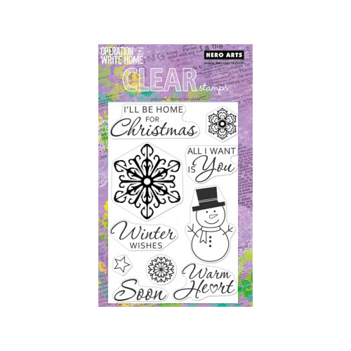 Hero Arts - Operation Write Home - Poly Clear - Christmas - Clear Acrylic Stamps - Winter Wishes