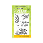 Hero Arts - Poly Clear - Clear Acrylic Stamps - Fancy Basics