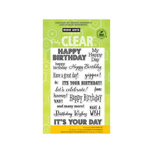 Hero Arts - Poly Clear - Clear Acrylic Stamps - It's Your Day
