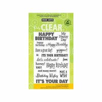 Hero Arts - Poly Clear - Clear Photopolymer Stamps - It's Your Day