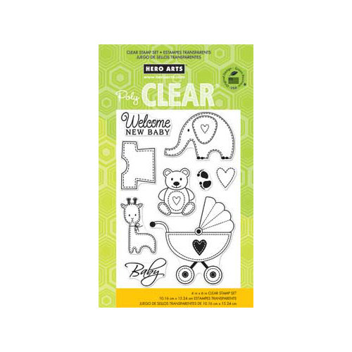 Hero Arts - Poly Clear - Clear Acrylic Stamps - New Baby