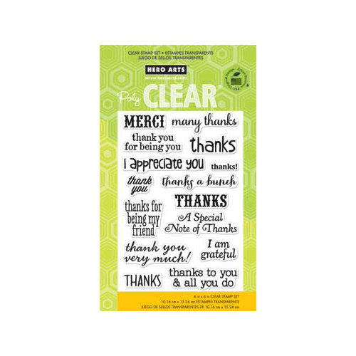 Hero Arts - Poly Clear - Clear Acrylic Stamps - Thanks a Bunch