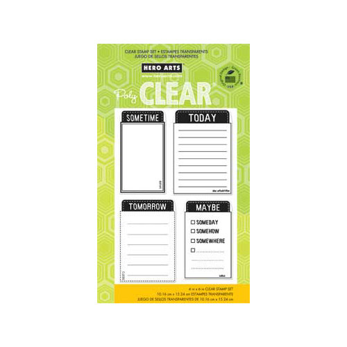 Hero Arts - Poly Clear - Clear Acrylic Stamps - Today