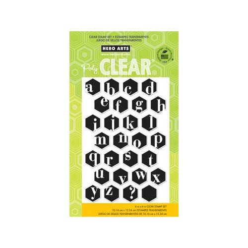 Hero Arts - Poly Clear - Clear Acrylic Stamps - Alphabet Hexagons