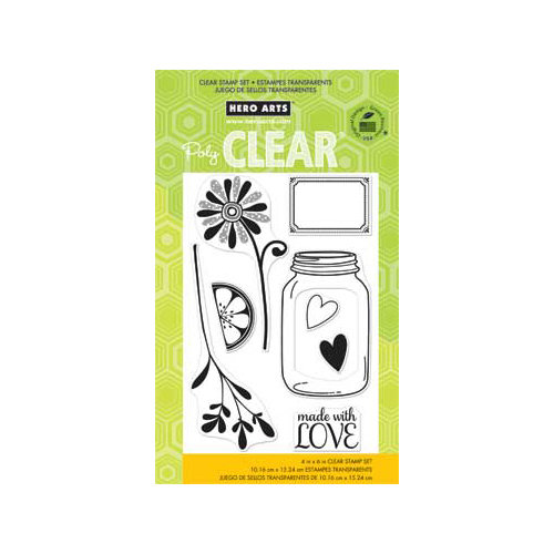 Hero Arts - Poly Clear - Clear Acrylic Stamps - Love Jar