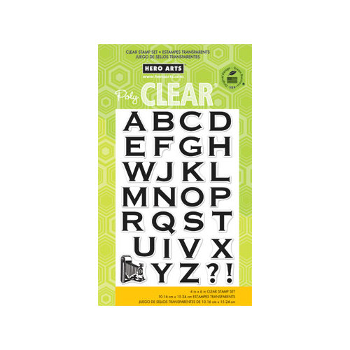 Hero Arts - Poly Clear - Clear Acrylic Stamps - Vintage Alphabet
