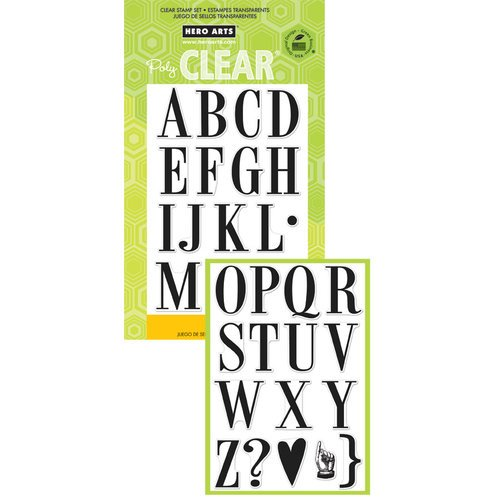 Hero Arts - Poly Clear - Clear Acrylic Stamps - Large Vintage Alphabet