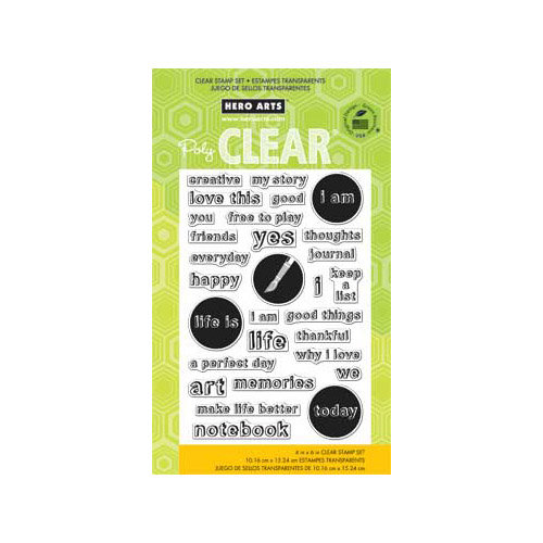 Hero Arts - Poly Clear - Clear Acrylic Stamps - My Words