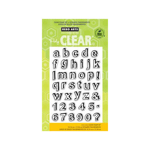 Hero Arts - Poly Clear - Clear Acrylic Stamps - Journal Letters