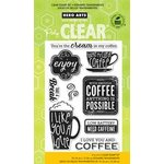 Hero Arts - Poly Clear - Clear Acrylic Stamps - Need Caffeine