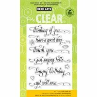 Hero Arts - Poly Clear - Clear Photopolymer Stamps - Messages With Flourish