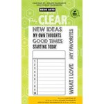 Hero Arts - Poly Clear - Clear Acrylic Stamps - New Ideas