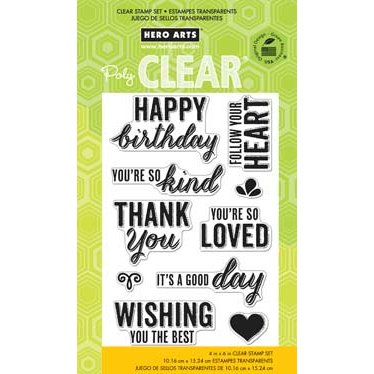 Hero Arts - Poly Clear - Clear Acrylic Stamps - Youre So Kind